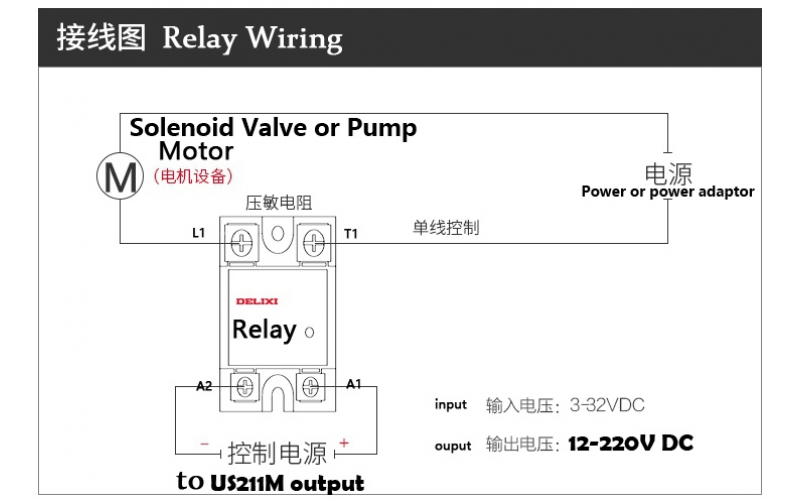 How to Use a Relay with US211M?